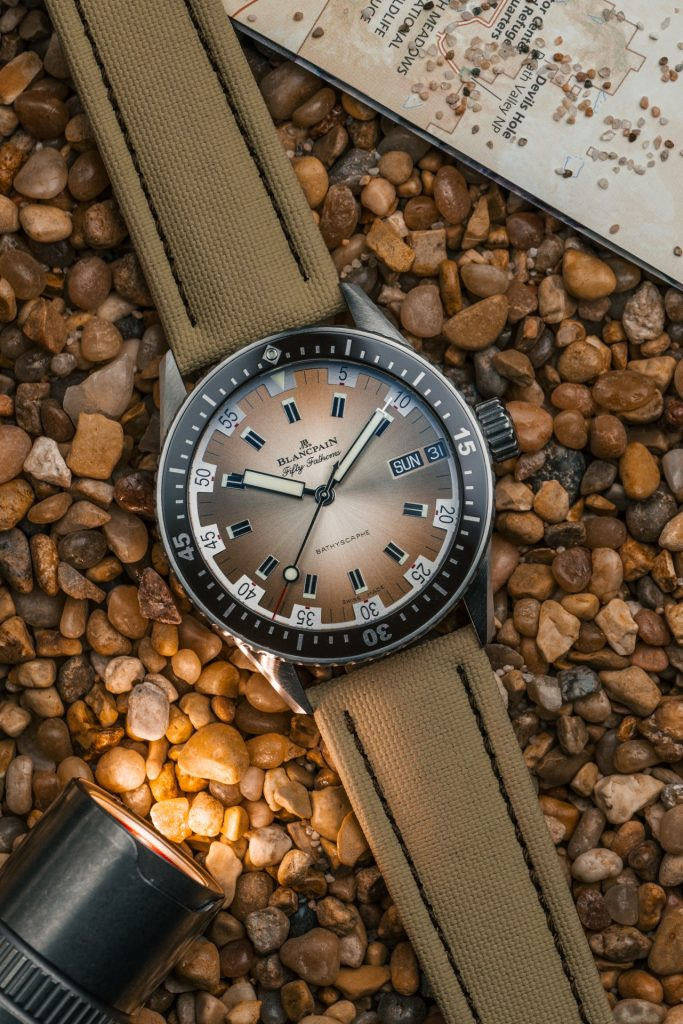 Blancpain Fifty Fathoms Bathyscaphe Day Date Desert Edition