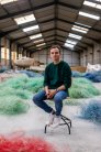 Yann Louboutin, one of the three founders of FIL&FAB, a supplier of recycled plastic from fishing nets (Brittany, France)