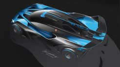 Design sketch Bugatti Bolide top view - Artur Hindalong, Bugatti Design