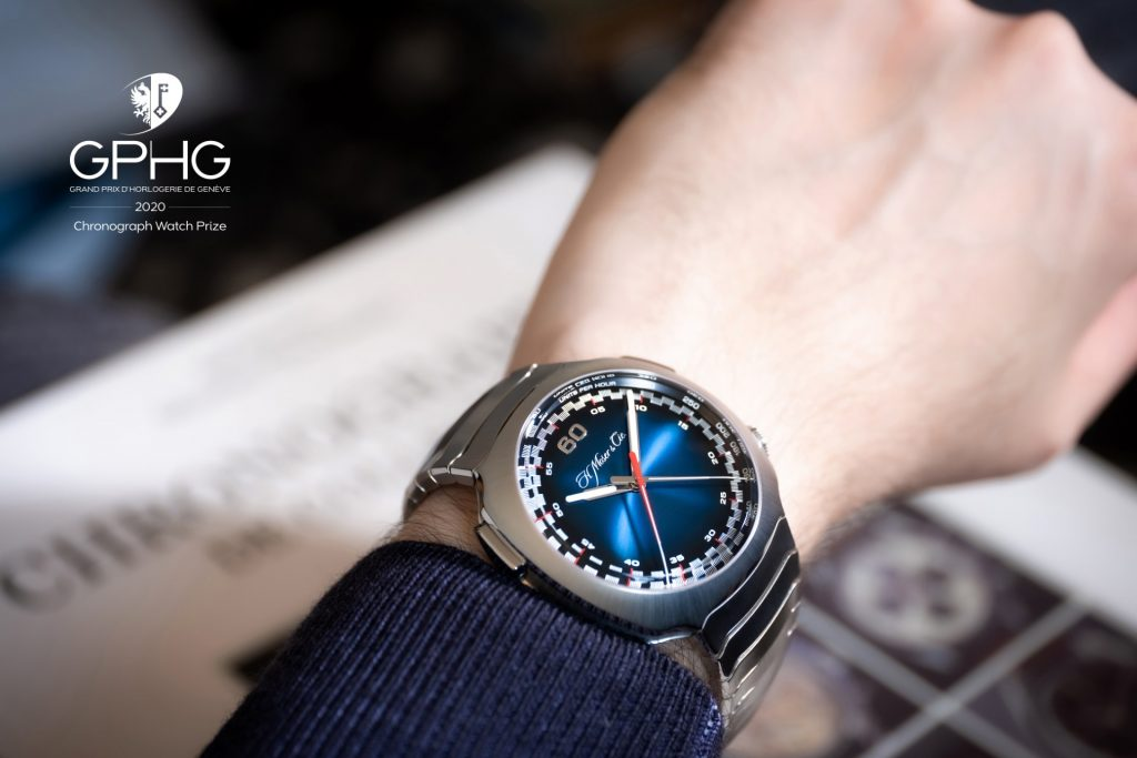 H. Moser & Cie Streamliner Flyback Chronograph Automatic Funky Blue