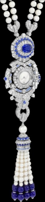Focus on the Pompon Margaret long necklace watch