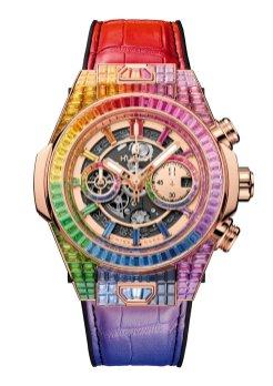 Hublot Big Bang Unico Full Baguette King Gold Rainbow