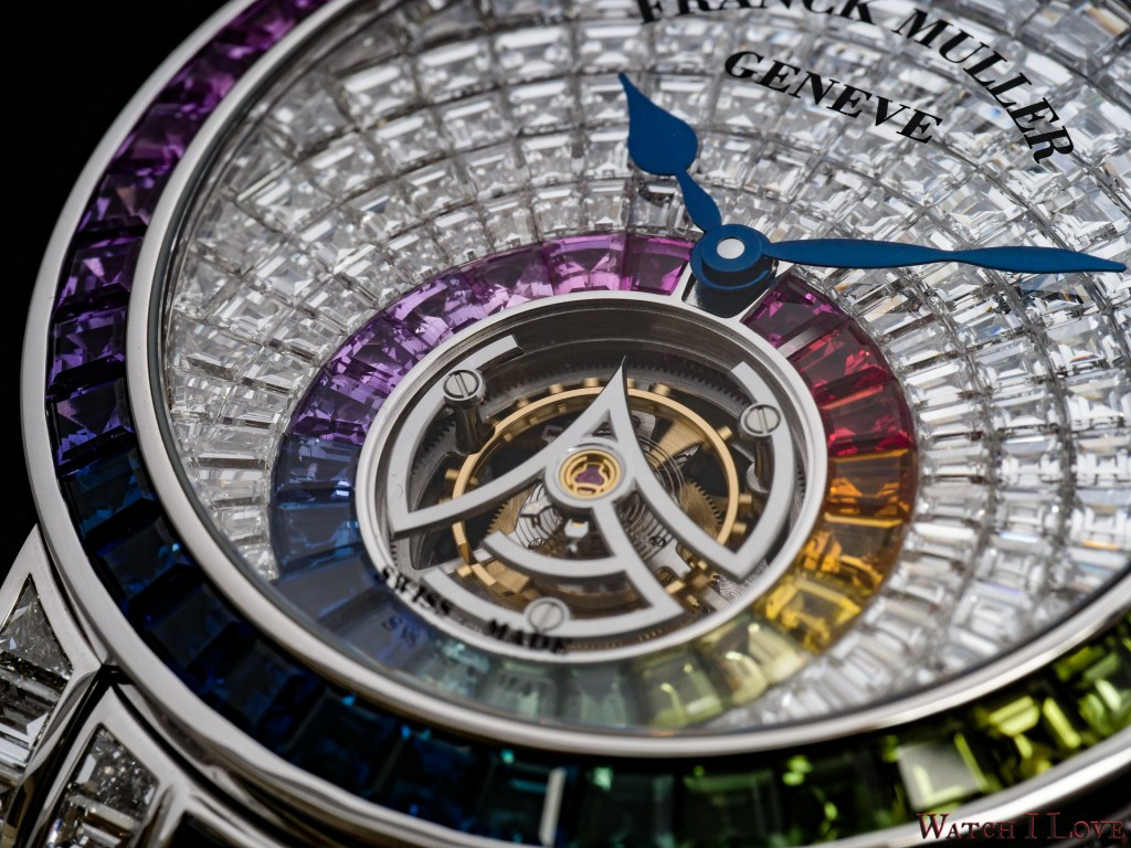 Franck Muller Tourbillon Rainbow invisible set baguette diamonds