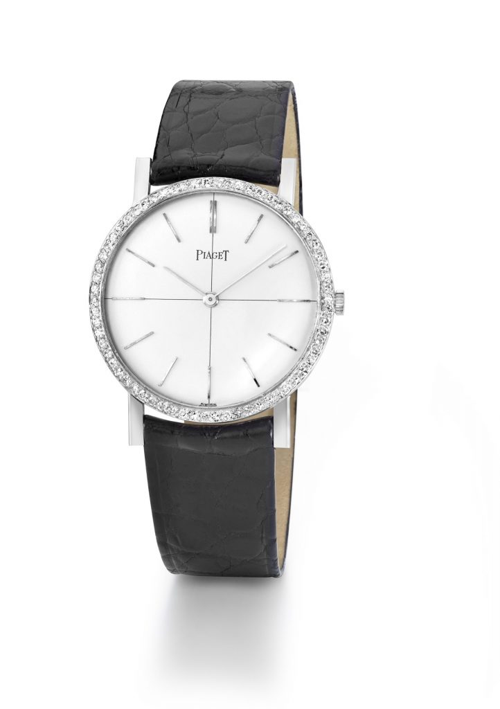Piaget Patrimony Private Collection WG ultra-thin 9P watch with Diamonds 1961