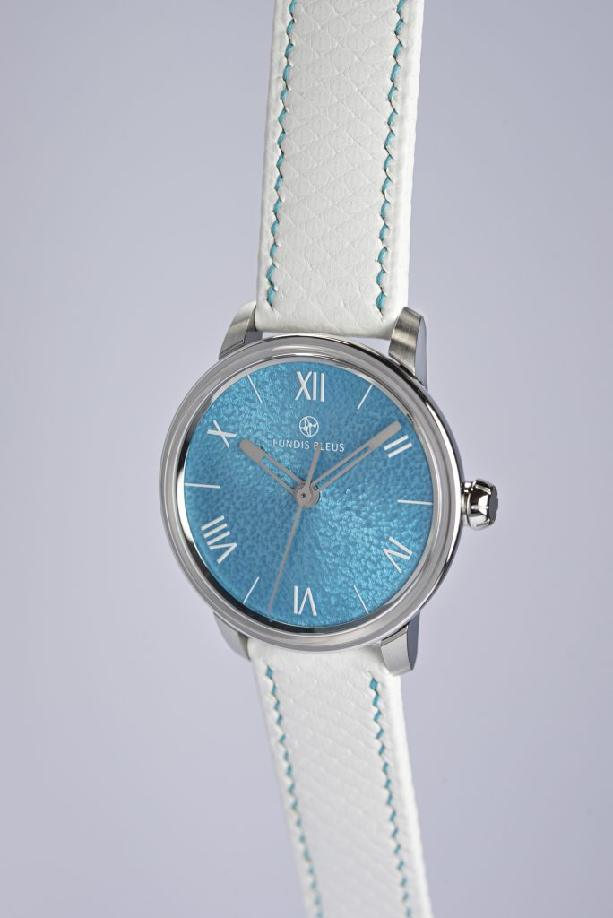 "Lundis Bleus Ref.1120-EU ""Lagoon Blue - Roman Numerals"""