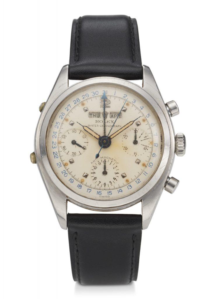 Rolex, Triple Calendar, Chronograph, Steel, Ref. 6036