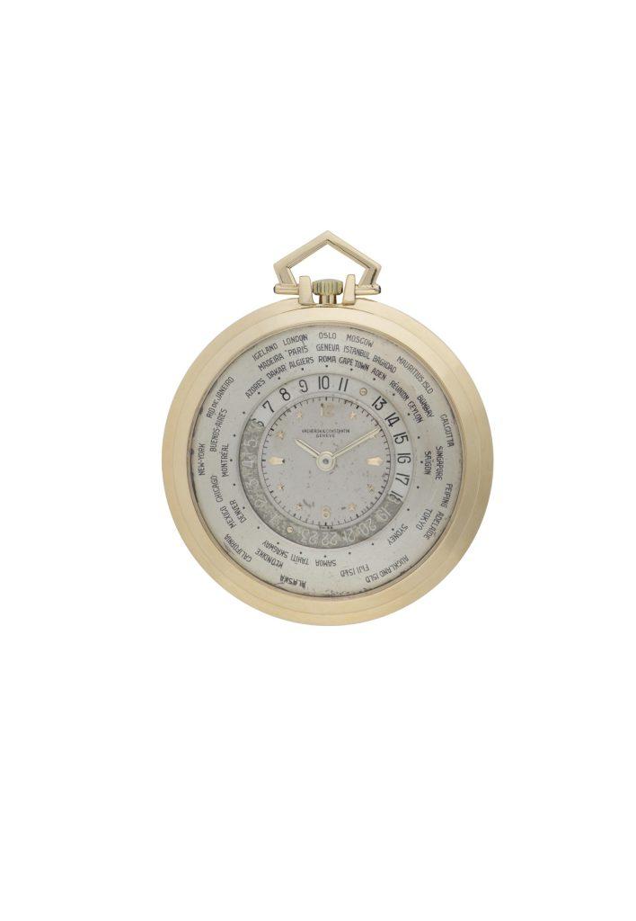 18K yellow gold open-face worldtime pocket watch (Inv. Ref 10394) – 1949