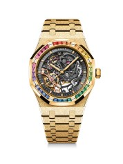 Royal Oak Frosted Gold Double Balance Wheel Openworked 41 mm Ref.15412BA.YG.1224BA.01-A