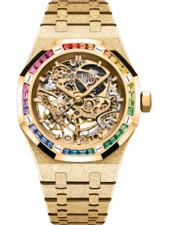 Royal Oak Frosted Gold Double Balance Wheel Openworked 37 mm Ref. 15468BA.YG.1259BA.01-A