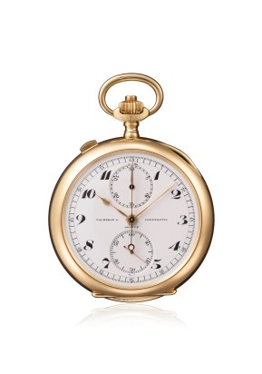 Round pocket chronograph and stopwatch, Ref. Inv. 11091 - 1914
