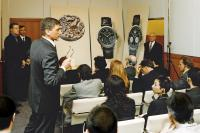 Günter Blümlein and Walter Lange present the DATOGRAPH at Baselworld 1999