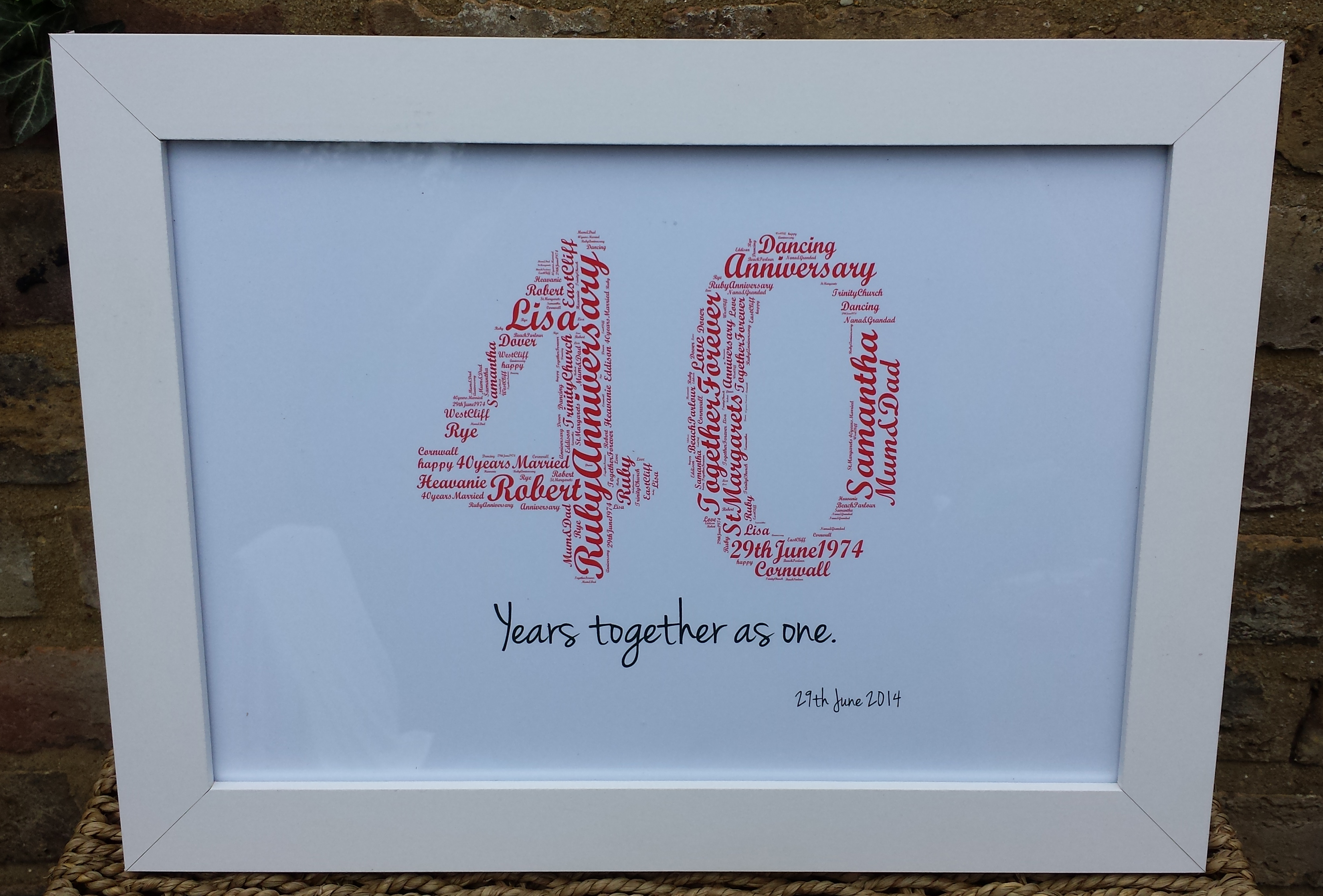 Attractive Ruby Wedding Anniversary Gifts