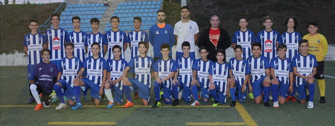 Iniciados do FC Amares lideram campeonato