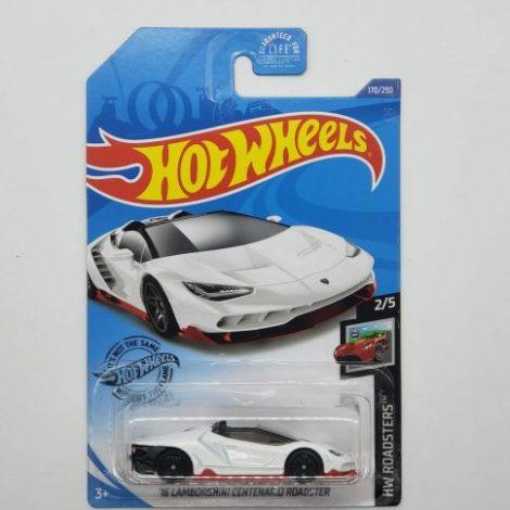 Hot Wheels 2020 HW Roadsters 2016 Lamborghini Centenario Roadster (white) GHC73