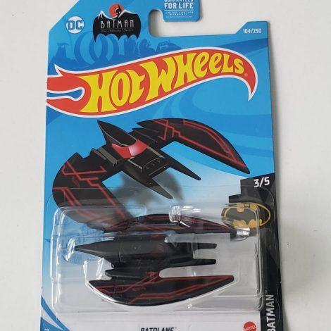 Hot Wheels 2021 Batman Series 3 of 5 Batplane (Black/Red) GTB57