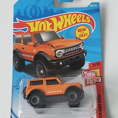 Hot Wheels 2021 Then and Now 2021 Ford Bronco Orange GTB86
