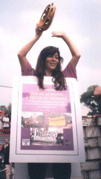 Norma Mogrovejo 2003, foto Archivo LeSVOZ AC