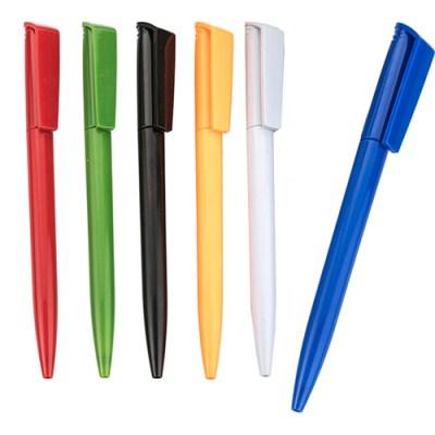 Bolígrafo de plástico con clip de color-promocional-personalizado