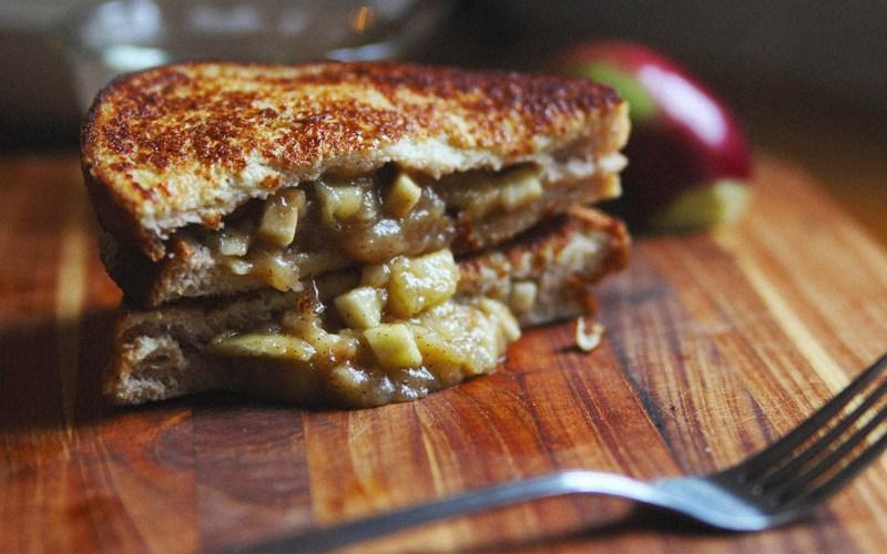A tasty apple pie sandwich