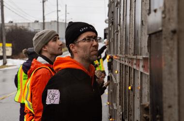 Protestors at Cargill | Photo by Alex Vialette