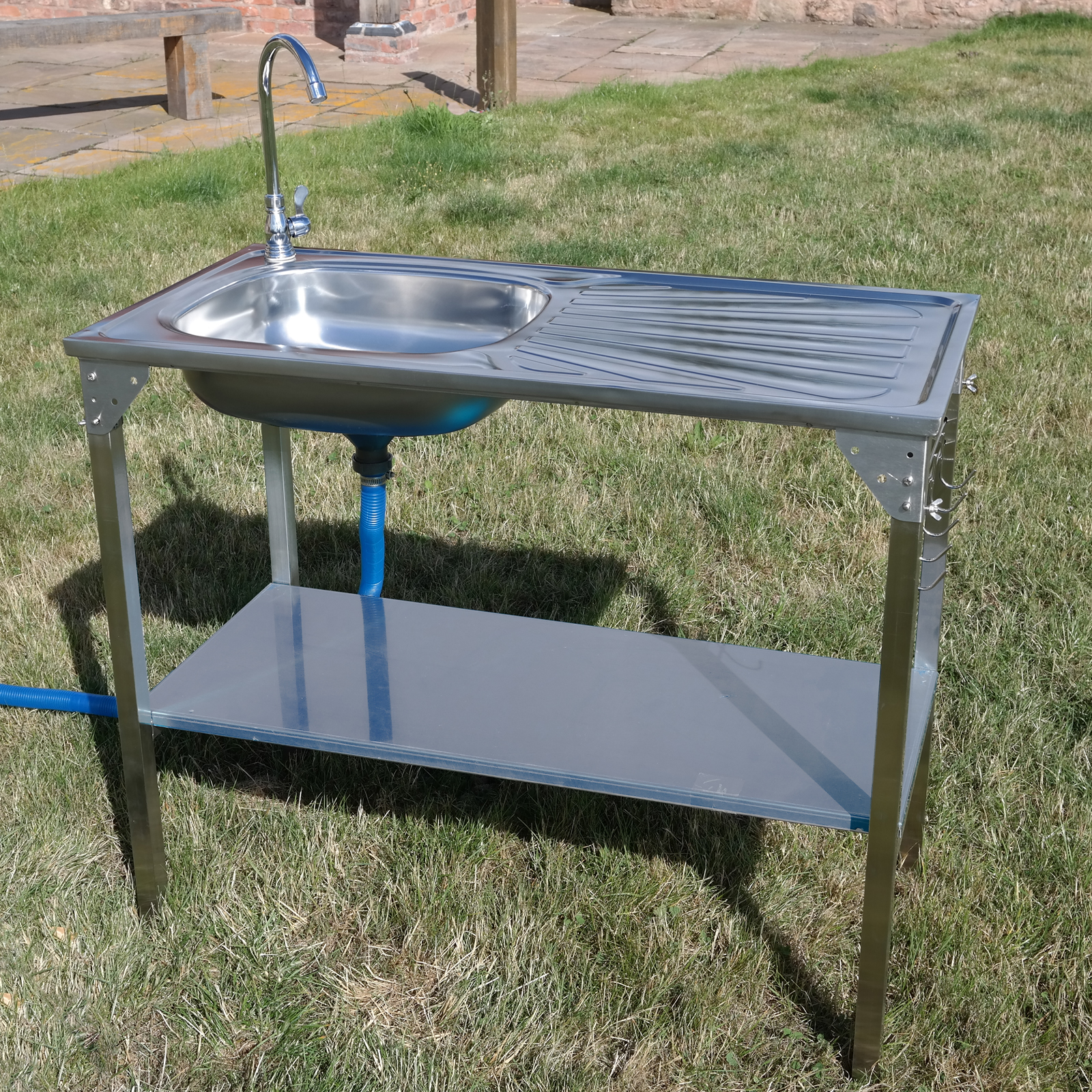 CAMPING SINK OUTDOOR KITCHEN STAINLESS STEEL DRAINING ... on Outdoor Patio Sink id=24593