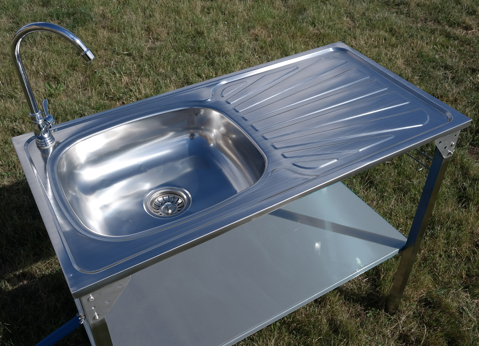 CAMPING SINK OUTDOOR KITCHEN STAINLESS STEEL DRAINING ... on Outdoor Patio Sink id=25588