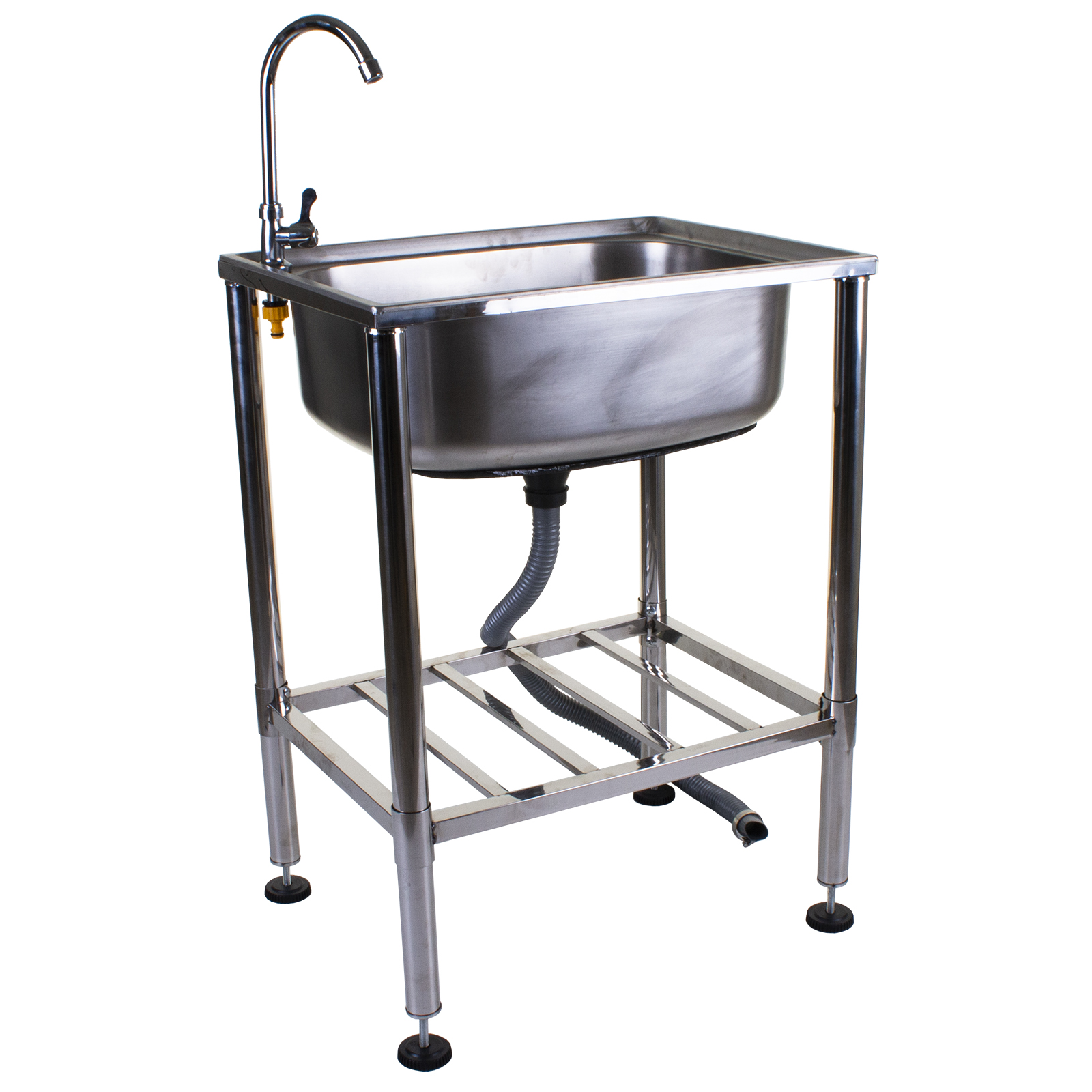stainless steel metal camping sink with