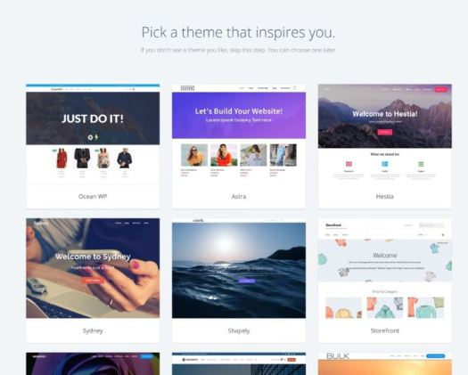 BlueHost Pick WordPress Theme