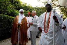 Prince Charles chatting with the Sultan of Sokoto Sa'ad Abubakar III