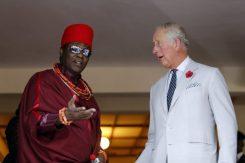 Prince Charles with Oba of Benin, Eheneden Erediauwa.