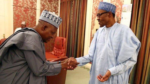 Image result for Shettima and Buhari