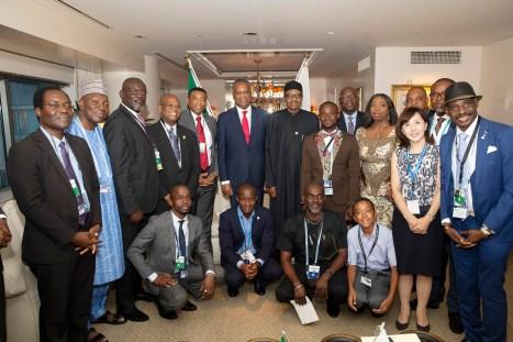PRESIDENT BUHARI MEETING NIGERIANS IN JAPAN 7