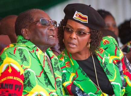 Late President Mugabe and wife Grace