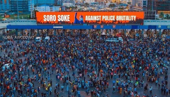 55447fae shedding the toga of 'lazy nigerian youths'… soro soke against police brutality soke