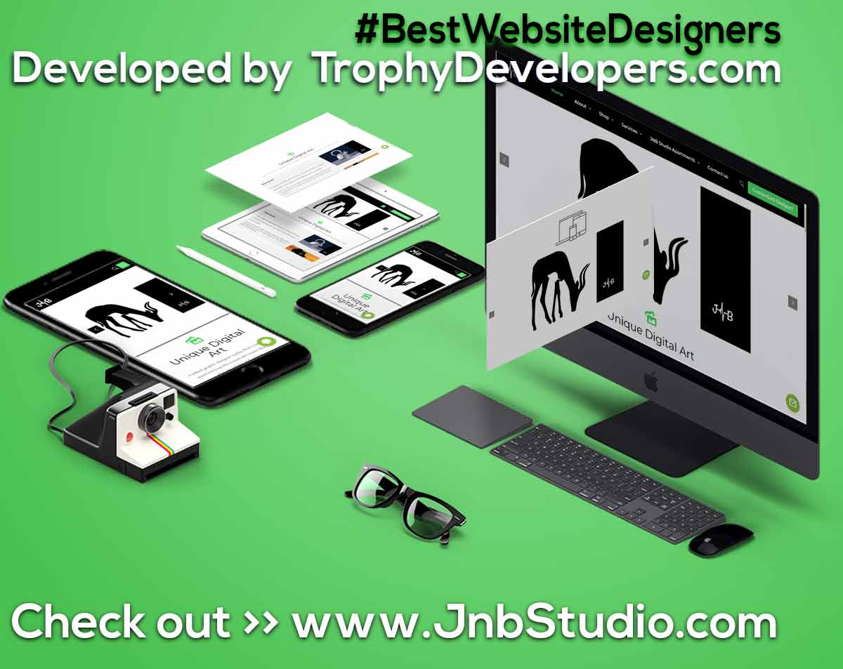 Jnb Studio Shop, for digital Art Website (www.jnbstudio.com) by Trophy Developers Uganda - website designing site, website design cool website designs