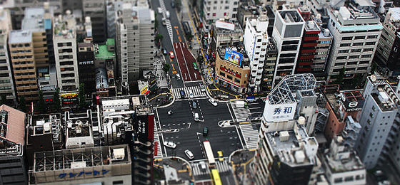 Tokyo streets with tilt-shift photography