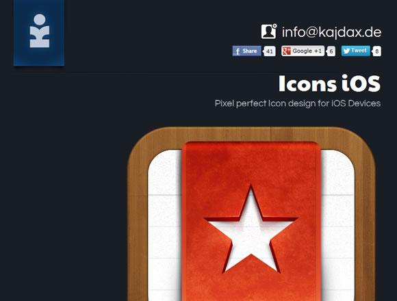 Kajdax iOS icons design portfolio