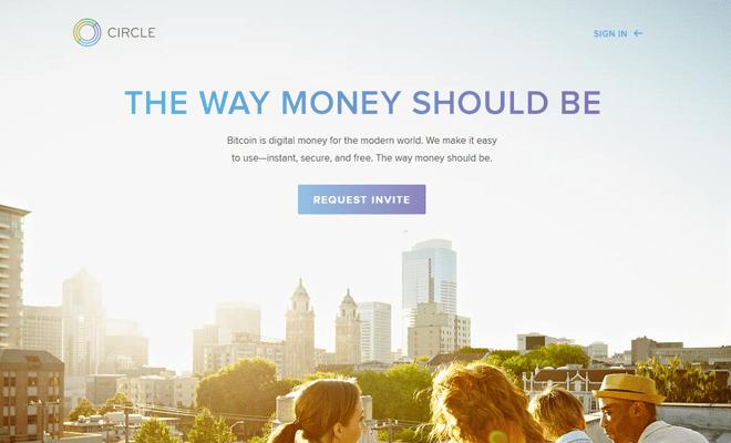 circle internet financial website homepage design