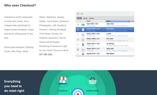 checkout app minimal clean whitespace