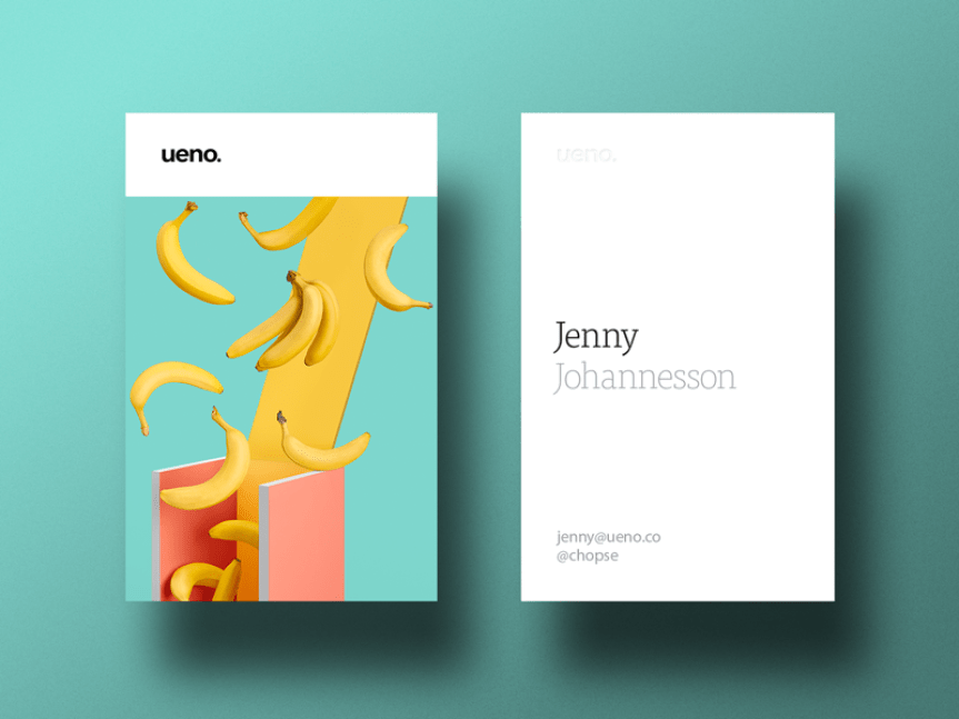 25 creative business card designs for your inspiration ueno rebrand business cards 3 reheart Choice Image