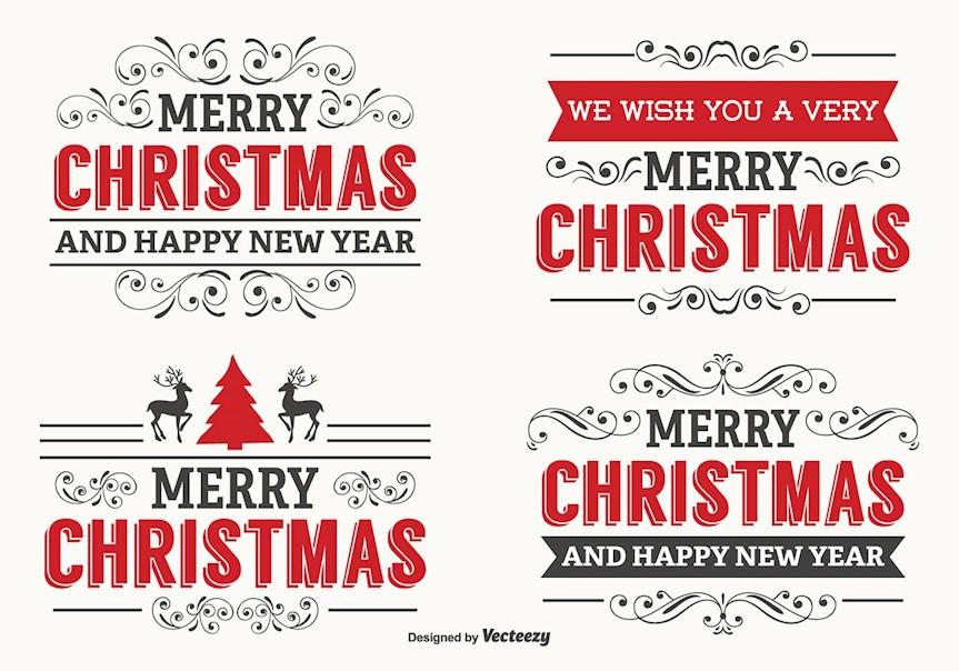 beautiful-christmas-label-set