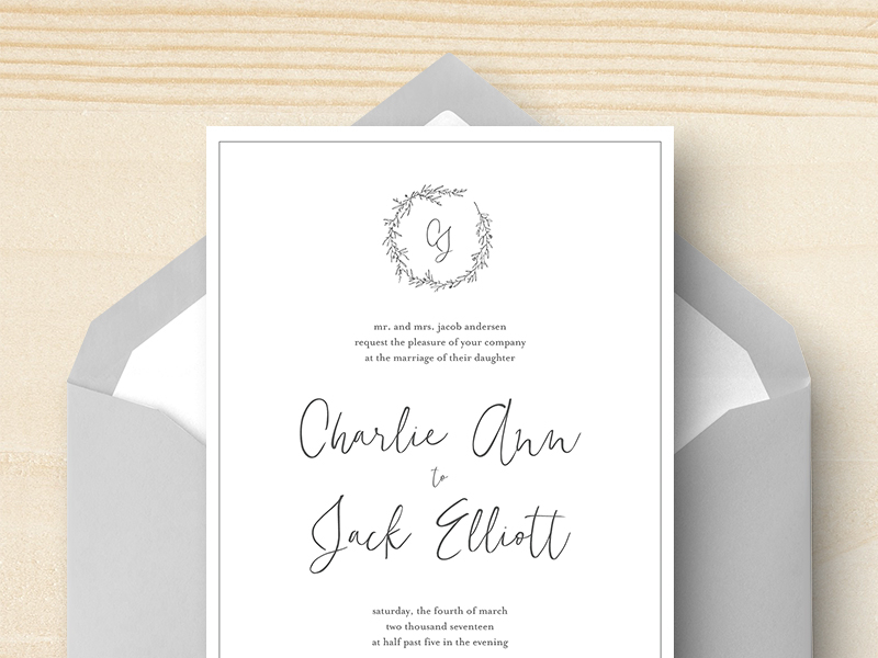 Minimalist Invitation