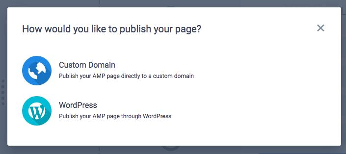 Instapage di pubblicazione WordPress AMP