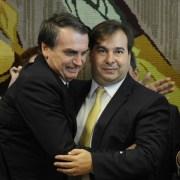 Rodrigo Maia e Bolsonaro