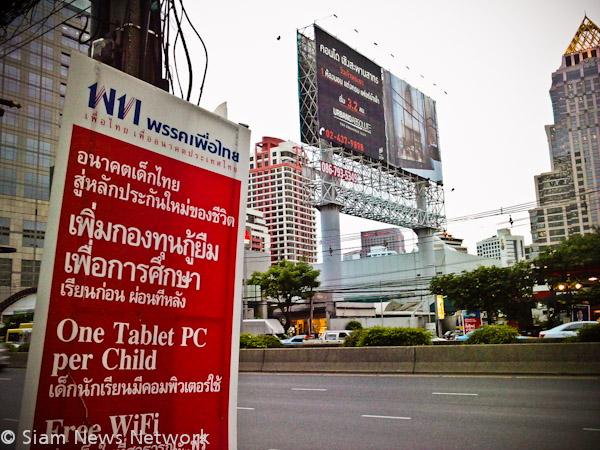 affiche electorale Bangkok