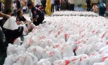Cadavres de foetus Bangkok temple