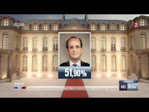 Resultats des elections 2012, sur France2