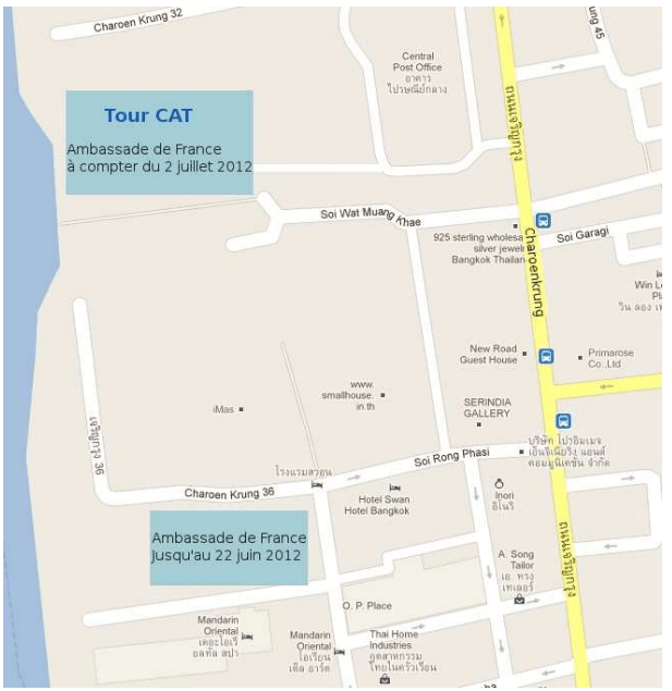 plan ambassade France Bangkok Thailande