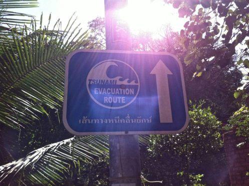 Tsunami Evacuation route Koh Phi Phi