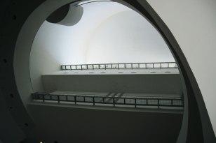 L'intérieur entièrement blanc du BACC est très apaisant.